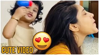 Actress Nabha Natesh Cute Video | Nabha Natesh Playing With Kid | TFPC - TFPC