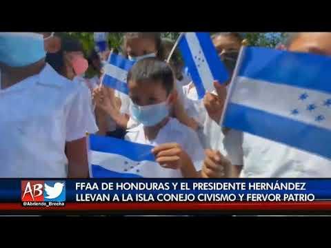 Presidente Hernández conmemora en isla Conejo el 179 aniversario de la muerte de Morazán