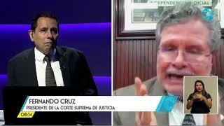 Reformas pendientes a la eleccion de magistrados, entrevista Fernando Cruz, Presidente Corte Suprema
