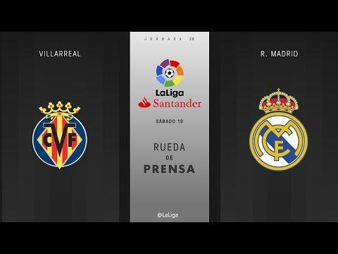 Rueda de prensa Villarreal vs R. Madrid
