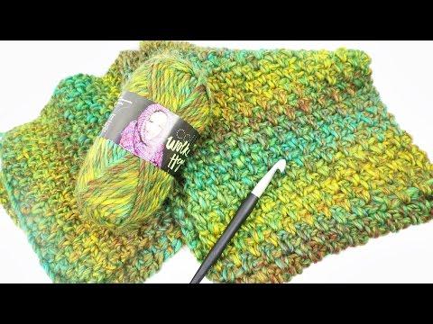 Häkel Experiment | Pompon Wolle im Test | Schal aus einem Knäul ...