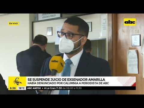 Se suspende juicio oral del exsenador Dionisio Amarilla contra el periodista Juan Carlos Lezcano