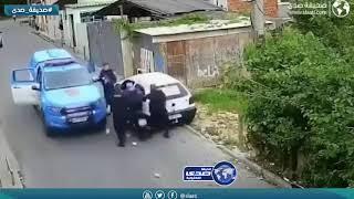 ناوي يهرب من الشرطي وصاده