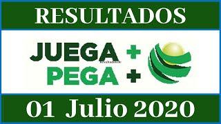 Resultados de la Lotería Juega Mas Pega Mas de hoy 01 de Julio del 2020