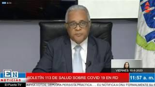 BOLETÍN 113 DE SALUD SOBRE COVID 19 EN RD