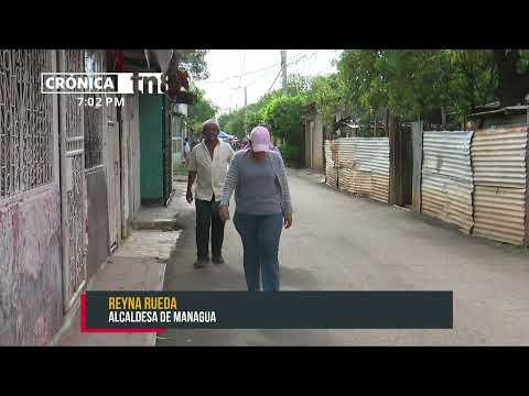 Inauguran nuevas calles en el barrio Waspan Sur en Managua - Nicaragua