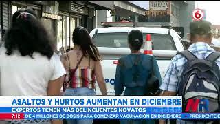 Asaltos y hurtos aumentan en diciembre: Autoridades preparan operativos y refuerzos