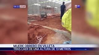 Obrero muere tras caer desde de 13 metros de altura