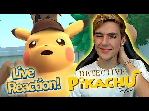 connectYoutube - Detective Pikachu English Trailer Live Reaction! *New 3ds Pokemon Game*