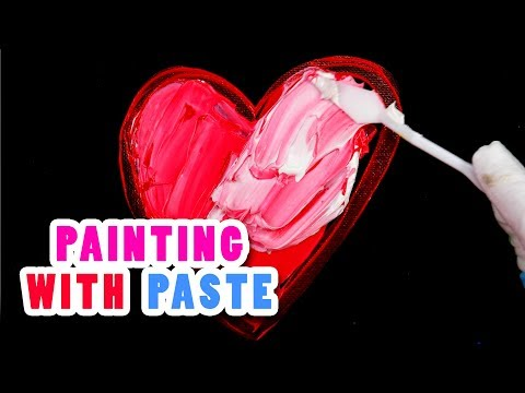 Painting Heart Painting Pages on Canvas (with modeling paste)
