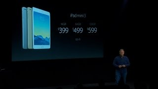 Apple reveals iPad Mini 3 in gold