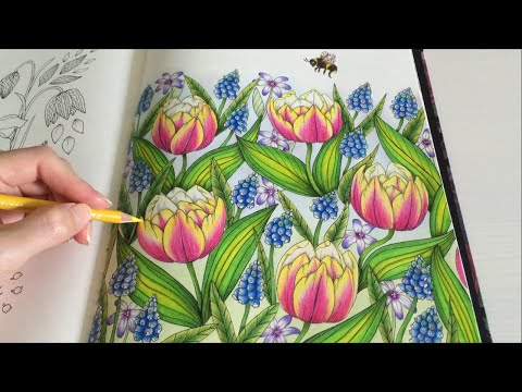 Download Youtube to mp3: HOW I COLOR TULIP Blomstermandala Coloring Book Coloring With ...