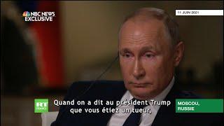 Vladimir Poutine répond à un journaliste américain qui lui demande s'il est un «tueur»