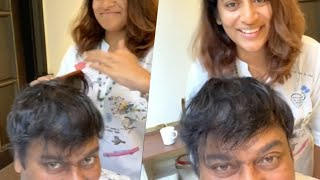 Sushmita Konidela Hair Cutting To Chiranjeevi | Happy Father's Day | Latest Tollywood News - TFPC