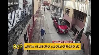 SJM: asaltan a mujer cerca de su vivienda por segunda vez