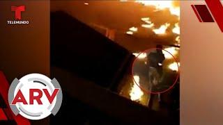 Capturan el momento en que una fogata provoca un peligroso incendio   Al Rojo Vivo   Telemundo