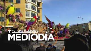 Carrozas y bandas listas para el Desfile de las Rosas en Pasadena   Noticias Telemundo