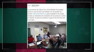 Analizan Salud y ayuntamiento de Centro lugares idóneos para sedes de vacunación