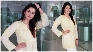 Mannara Chopra Snapped For An Event In Hyderabad | Actress Mannara Chopra | TFPC - TFPC