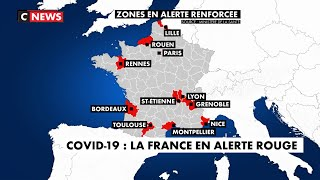 Coronavirus : la France en alerte rouge