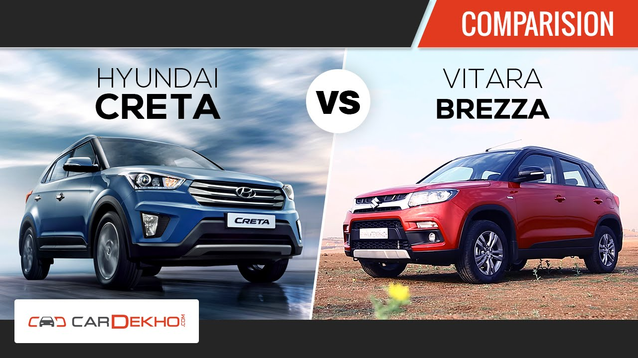 Maruti Vitara Brezza vs Hyundai Creta | Comparison Review | CarDekho.com