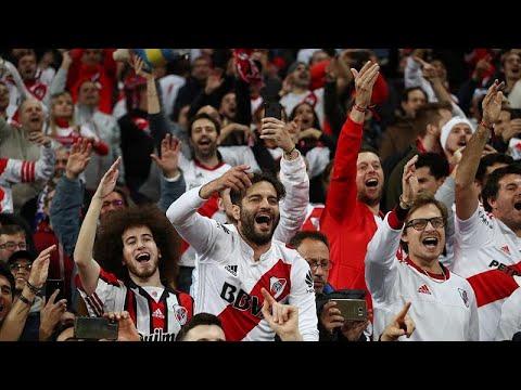 شاهد: جماهير ريفر بليت تشعل مدريد احتفالاً بالفوز على بوكا جونيو