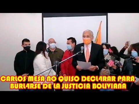 CARLOS MESA ESTOY EN MI DER3CHO A GUARDAR SILENCIO ..