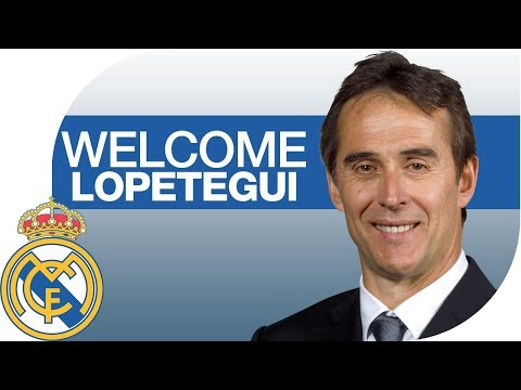 Julen Lopetegui's presentation as Real Madrid coach.