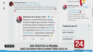 MIMP anunció que velará por bienestar de bebé maltratado por su mamá en Breña