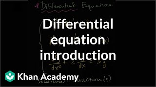 Differential equation introduction