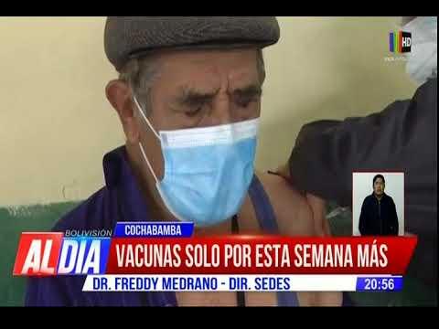 Cochabamba se queda sin vacunas anticovid