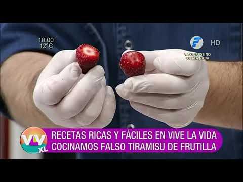Falso Tiramisú de Frutilla | Recetas Vive la Vida XL