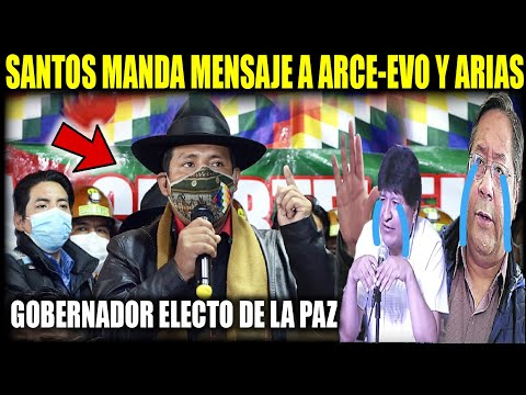 Primeras palabras de Santos Quispe como Gobernador Electo de La Paz anuncia auditoria