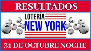 Lotería New York Tarde Resultados de hoy 31 de Octubre
