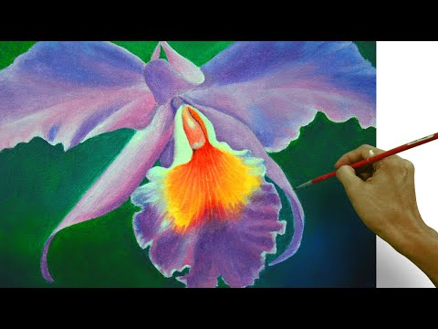 41a272c3e How To Paint An Orchid Flower In Easy Step By Step Acrylic Full Painting  Tutorial By JM Lisondra