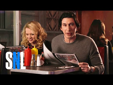 connectYoutube - SNL Host Adam Driver & Kate McKinnon Grab a Bite at The Diner