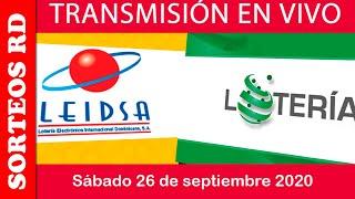 LEIDSA y Loteria Nacional en  VIVO / sábado 26 de septiembre 2020