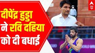 Ravi Dahiya's Victory: Haryana Wrestling Association chief Deependra Hooda's special msg - ABPNEWSTV