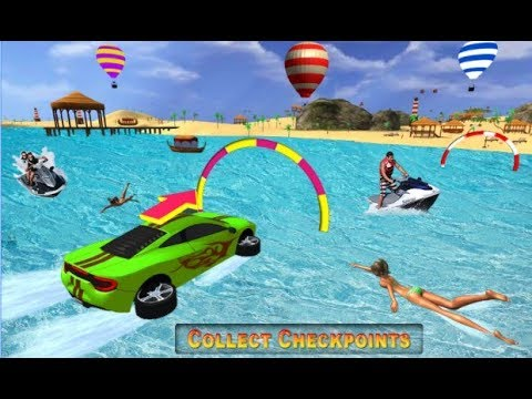 Water Surfer Car Floating Race / Water Car Racing Games / Android Gameplay Video
