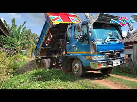 รถบรรทุกหกล้อถอยหลังดั้มรถไถYA