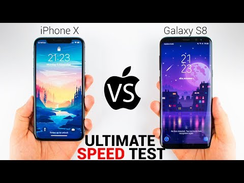 iPhone X vs Samsung Galaxy S8 - The ULTIMATE SPEED TEST!