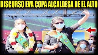 """Con lagrimas y ovaciones Eva Copa asume la alcaldía """"Invita a empresarios a invertir en El Alto"""""""