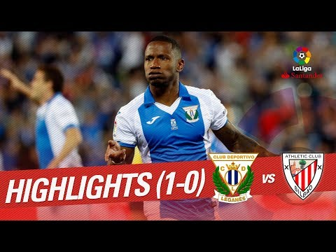 Resumen de CD Leganés vs Athletic Club (1-0)