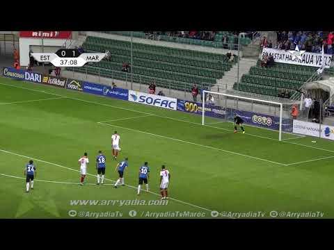 المنتخب المغربي 2-0 منتخب إستونيا هدف حكيم زياش