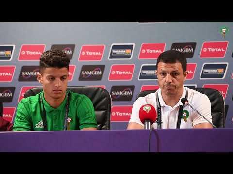 الندوة الصحفية لجمال سلامي واللاعب يوسف اوجدال قبل مباراة الكامرون