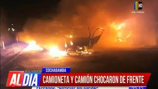 Cuatro personas mueren calcinadas en accidente registrado en la carretera Cochabamba - Santa Cruz