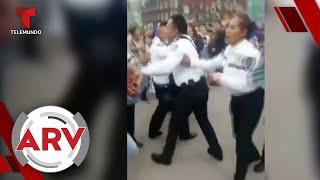 Video muestra batalla campal entre policías y vendedores en México   Al Rojo Vivo   Telemundo