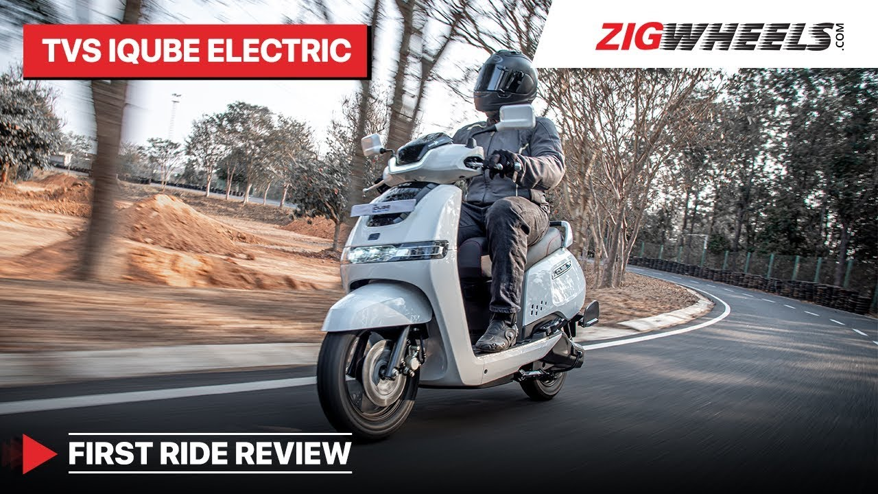TVS iQube Electric Scooter First Ride Review   As Solid As Other TVS Scooters?