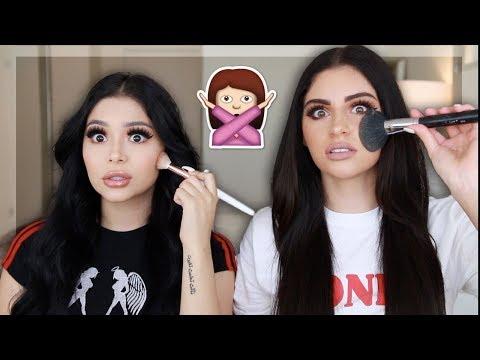 Opposite Hand Makeup Challenge ft. Nazanin Kavari