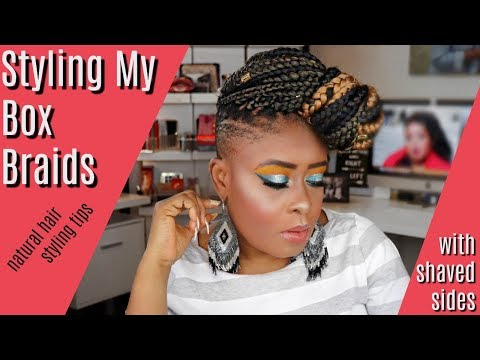 How To S Wiki 88 How To Style Box Braids With Shaved Sides